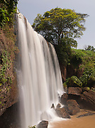 The sacred Metchie waterfalls between Dschang and Douala, Cameroon. The local Bamileke people come here to make sacrifices