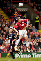 Photo: Leigh Quinnell.<br /> Bristol City v Nottingham Forest. Coca Cola League 1. 31/03/2007. Forests Lewis McGugan rises above Bristol Citys Brian Wilson.
