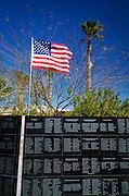 Memorial wall, General Patton Memorial Museum, Indio, California USA