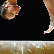 Sofia Bjoernholdt of Denmark competes on the Beam in the qualification for the Women's Apparatus Finals of the Glasgow 2018 European Artistic Gymnastics Championships, Glasgow, Britain, 02 August 2018.