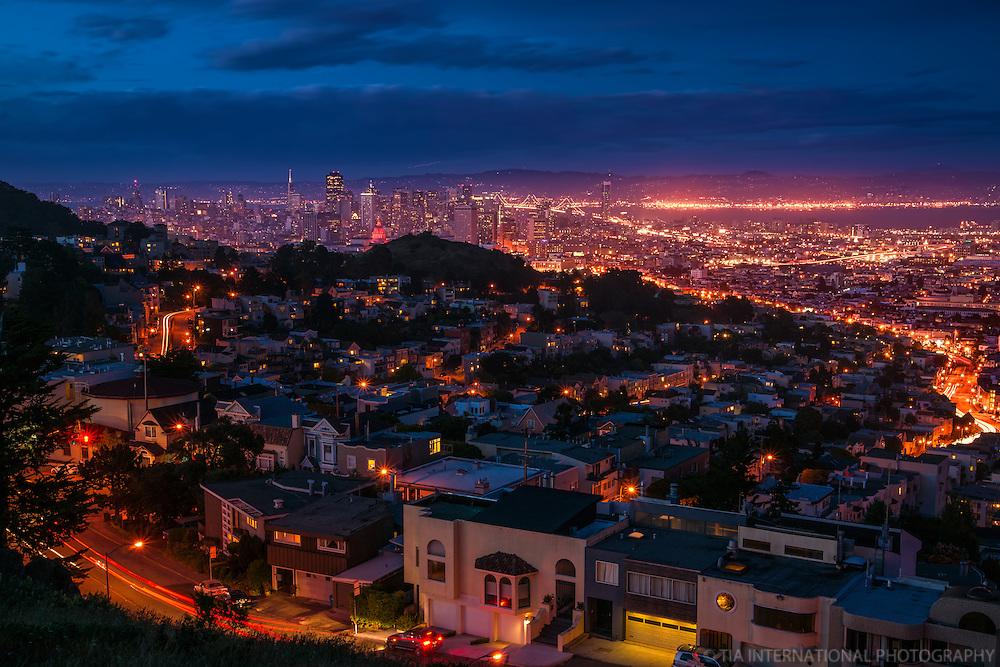 San Francisco @ Twilight, Tank Hill