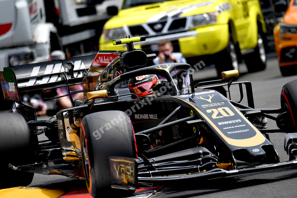 Kevin Magnussen (Haas-Ferrari) during practice before the 2019 Monaco Grand Prix. Photo: Grand Prix Photo