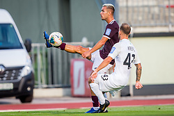 David Tijanic of NK Triglav Kranj during Football match between NK Triglav Kranj and NK Rudar Velenje in Round #3 of Prva liga Telekom Slovenije 2019/20, on July 27, 2019 in Sports park Kranj, Kranj, Slovenia. Photo by Ziga Zupan / Sportida