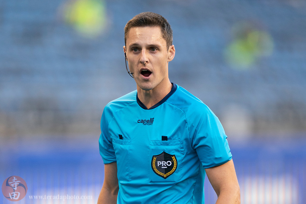 April 16, 2021; Seattle, Washington, USA; MLS referee Joe Dickerson during the first half between the Seattle Sounders FC and the Minnesota United FC at Lumen Field.