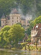 Chateau De Malartrie on the Dordogne River in La Roque Gageac, Dordogne, France