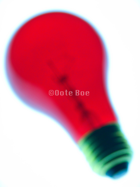 blurry red light bulb