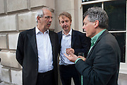 TOM BOWER; NICHOLAS SHAKESPEARE, David Campbell and Knopf host the 20th Anniversary of the revival of Everyman's Library. Spencer House. St. James's Place. London. 7 July 2011. <br /> <br />  , -DO NOT ARCHIVE-© Copyright Photograph by Dafydd Jones. 248 Clapham Rd. London SW9 0PZ. Tel 0207 820 0771. www.dafjones.com.