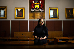 © Licensed to London News Pictures . 14/05/2021. Oldham , UK . Cllr AROOJ SHAH , who represents the Chadderton South ward on Oldham Council, has been elected as the new leader of Oldham's Labour Group and is due to be confirmed as leader of the council on 19th May 2021 . She will be the first Muslim woman to lead the council . Photo credit : Joel Goodman/LNP