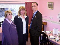 Janet Cann (center) Resource Center Manager take a look at the Sevenfields rehabilitation Unit with Head of Services for adults Eddie Sherwood and Cllr Maureen Brelsford Dept. Leader and Cabinet Member<br />Wednesday 27 Feb 2002