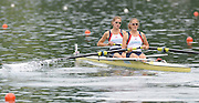 Lucerne, SWITZERLAND, GBR W2- Bow  Oliver WHITLAM and Louisa REEVE, move away from the start, of the third round of the  2009 FISA World Cup,  on the Rottsee regatta Course, Friday  10/07/2009 [Mandatory Credit Peter Spurrier/ Intersport Images]