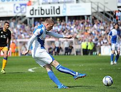 Bristol Rovers' David Clarkson goes close to scoring - Photo mandatory by-line: Joe Meredith/JMP - Mobile: 07966 386802 03/05/2014 - SPORT - FOOTBALL - Bristol - Memorial Stadium - Bristol Rovers v Mansfield - Sky Bet League Two
