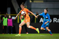 Merel van Dongen of Nederland  and Špela Kolbl of Slovenia during football match between Slovenia and Nederland in qualifying Round of Woman's qualifying for EURO 2021, on October 5, 2019 in Mestni stadion Fazanerija, Murska Sobota, Slovenia. Photo by Blaž Weindorfer / Sportida