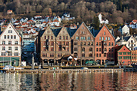 Historic Bergen from across the harbor. Six of seven images taken with a Nikon 1 V2 camera and 10-30 mm lens(ISO 200, 30 mm, f/5.6, 1/1000 sec).