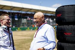 July 8, 2018 - Silverstone, Great Britain - Motorsports: FIA Formula One World Championship 2018, Grand Prix of Great Britain, .Andy Cowell, Niki Lauda (AUT, Mercedes AMG Petronas Motorsport) (Credit Image: © Hoch Zwei via ZUMA Wire)