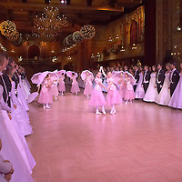 0802020337a Dress rehearsal of the 13th Budapest Opera Ball held at Opera House involving 50 couples of debutantes performing the opening waltz. Budapest, Hungary. Saturday, 02. February 2008. ATTILA VOLGYI