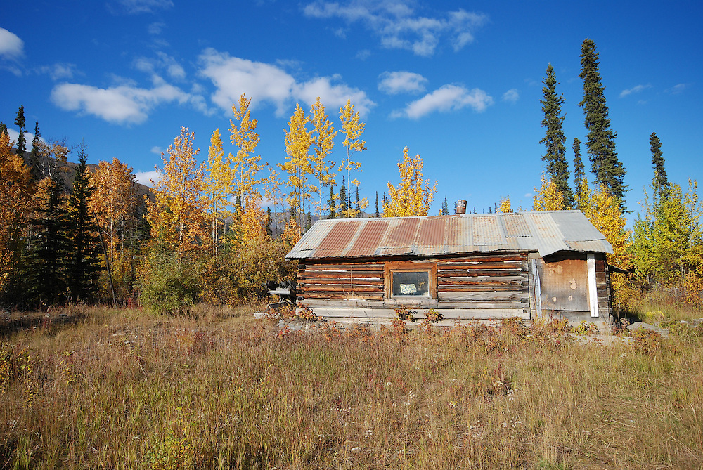 A trapper's cabin on the Dempster Highway.