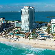 Secrets The Vine, Hard Rock hotel and Sandos Cancun hotel. Cancun, Quintana Roo. Mexico.