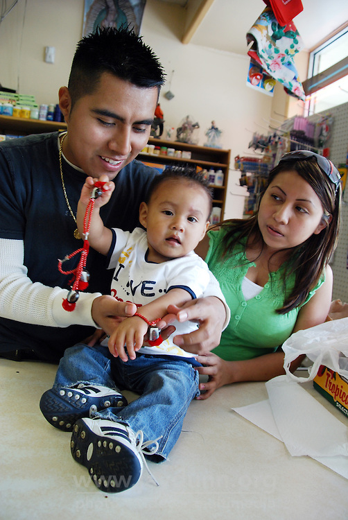 USA, Illinois, West Chicago, May 28, 2009.  Community within a community, Zapotec speaking Mexican-Americans and immigrants maintain their connection to San Pablo Guila in their native Oaxaca through religion, cultural traditions and food. A significant group lives in the Illinois suburb of West Chicago.