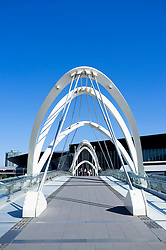 Modern Seafarer's Bridge across the Yarra River in central Melbourne Australia