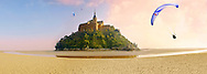 Mont Saint-Michel - Panorama at kow tide - Brittany - France