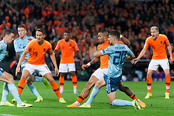 10-10-2019 NED: Netherlands - Northern Ireland, Rotterdam<br /> UEFA Qualifying round Group C match between Netherlands and Northern Ireland at De Kuip in Rotterdam / Memphis Depay #10 of the Netherlands scores 1-1