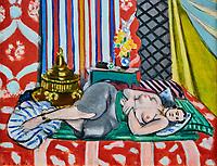 France, Paris (75), zone classée Patrimoine Mondial de l'UNESCO, les Tuileries, le musée de l'Orangerie, Odalisque à la culotte grise par Henri Matisse, 1927 // France, Paris, les Tuileries, museum of Orangerie, Odalisque à la culotte grise by Henri Matisse, 1927