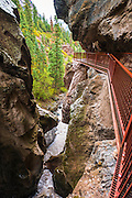 Catwalk trail into Box Canyon Falls, Ouray, Colorado USA