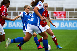 Jemma Purfield of Bristol City Women is challenged by Connie Scofield of Birmingham City Women- Mandatory by-line: Will Cooper/JMP - 18/10/2020 - FOOTBALL - Twerton Park - Bath, England - Bristol City Women v Birmingham City Women - Barclays FA Women's Super League