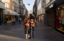 One of the main shopping streets in Ostend, Belgium, Sunday, Sept. 14, 2008. (Photo © Jock Fistick)