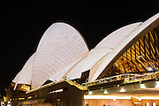 View of Sydney Opera House during Vivid Sydney 2016