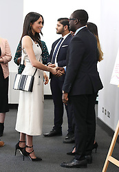 April 18, 2018 - London, London, United Kingdom - Image icensed to i-Images Picture Agency. 18/04/2018. London, United Kingdom. Prince Harry and Meghan Markle at  a reception with delegates from the Commonwealth Youth Forum in  London, during the Commonwealth Heads of Government Meeting. (Credit Image: © Rota/i-Images via ZUMA Press)