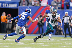 Philadelphia Eagles wide receiver Jordan Matthews #81 carries the ball during the NFL game between the Philadelphia Eagles and the New York Giants at MetLife Stadium in East Rutherford, New Jersey on Sunday, December 24th 2014. The Eagles won 34-26. (Brian Garfinkel/Philadelphia Eagles)