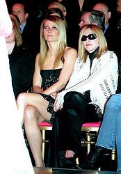 Jan 19, 2002; Paris, France; Actress GWYNETH PALTROW & singer MADONNA @ the Versace Fashion Show in Paris..  (Credit Image: Visual/ZUMAPRESS.com)