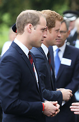 The Duke of Cambridge and Prince Harry arriving at the Help For Heroes Recovery Centre in Tidworth, Wiltshire, Monday, 20th May 2013 Picture by:  Stephen Lock / i-Images