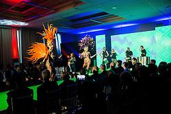 Brazilian dancers perform during official presentation of the Designer wear for Slovenian Athletes at Rio Summer Olympic Games 2016, on April 15, 2016 in Hotel Lev, Ljubljana, Slovenia. Photo by Vid Ponikvar / Sportida