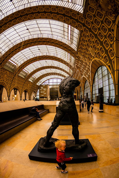 """Sculptures,Musee d""""Orsay,  a museum in Paris, France, on the Left Bank of the Seine. It is housed in the former Gare d'Orsay, a Beaux-Arts railway station built between 1898 and 1900."""