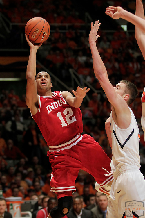 05 March 2011: Indiana guard Verdell Jones III (12) as the Indiana Hoosiers played the Illinois Illini in a college basketball game in Champaign, Ill.