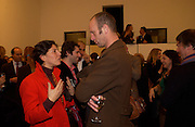 Lady McCalpine and Johnnie Shand Kidd, Matthew Mellon celebrates Famous Feet, Hamiltons Gallery. 22 November 2004. SUPPLIED FOR ONE-TIME USE ONLY> DO NOT ARCHIVE. © Copyright Photograph by Dafydd Jones 66 Stockwell Park Rd. London SW9 0DA Tel 020 7733 0108 www.dafjones.com