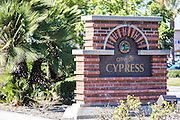 City of Cypress Brick Monument