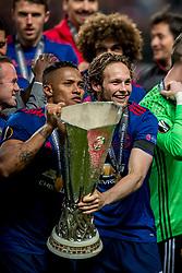 24-05-2017 SWE: Final Europa League AFC Ajax - Manchester United, Stockholm<br /> Finale Europa League tussen Ajax en Manchester United in het Friends Arena te Stockholm / Daley Blind #17 of Manchester United, Antonio Valencia(C) #20 of Manchester United