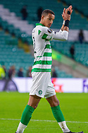 Christopher Jullien (#2) of Celtic applauds the fans during the Europa League match between Celtic and Rennes at Celtic Park, Glasgow, Scotland on 28 November 2019.