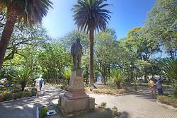 Estátua do Manequinho (Manoel Freitas Valle Fº), no centro da Praça Getúlio Vargas, em Alegrete. FOTO: Jefferson Bernardes/Preview.com