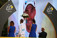 Podium, Pierre Latour (FRA - AG2R - La Mondiale) during the 105th Tour de France 2018, Stage 21, Houilles - Paris Champs-Elysees (115 km) on July 29th, 2018 - Photo Kei Tsuji / BettiniPhoto / ProSportsImages / DPPI