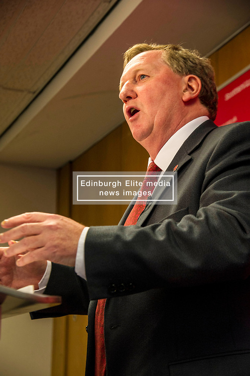 """Pictured: Alex Rowley<br /> <br /> Alex Rowley has decided to resign from the position of deputy leader of the Scottish Labour party.  He will be replaced by  Lesley Laird on an interim basis.<br />  <br /> Richard Leonard said: """"I have spoken to Alex and for the sake of his family he has decided to step down from this important role. He informs me that it is a decision he made some time ago. He is a loyal and experienced member of the Labour Group in the Scottish Parliament and will continue to play a part in rebuilding the Labour Party in Scotland.""""<br /> <br /> <br /> Ger Harley   EEm 16 December 2017"""