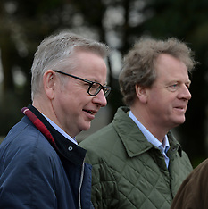 Michael Gove down on the farm, Newton Stewart, 20 November 2019