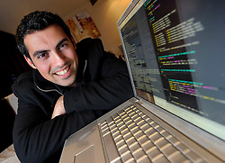 "BRUSSELS, BELGIUM - SEPT-30-2010 - Samy Kamkar, 24, of Los Angeles, California, has gained a reputation as an expert in cyber security.<br /> <br /> Kamkar is the author of a computer virus, (also known as JS.Spacehero) an XSS Worm developed to propagate across the MySpace social-networking site. At the time of release it gained significant media attention.<br /> <br /> Kamkar entered a plea agreement on January 31, 2007 to a felony charge. The action resulted in Kamkar being sentenced to three years probation, 90 days community service and an undisclosed amount of restitution.<br /> <br /> The worm carried a payload that would display the string ""but most of all, Samy is my hero"" on a victim's profile. When a user viewed that profile, they would have the payload planted on their page. Within just 20 hours of its October 4, 2005 release, over one million users had run the payload, making Samy one of the fastest spreading viruses of all time.<br /> Execution of the payload resulted in a ""friend request"" automatically being made to the author of the virus and in messages containing the payload being left on the profiles of the friends of the victim. (Photo © Jock Fistick)"