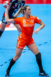 Lois Abbingh of Netherlands in action during the Women's EHF Euro 2020 match between Netherlands and Norway at Sydbank Arena on december 10, 2020 in Kolding, Denmark (Photo by RHF Agency/Ronald Hoogendoorn)