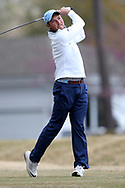 WILMINGTON, NC - MARCH 19: North Carolina's Ben Griffin tees off on the Ocean Course ninth hole. The first round of the 2017 Seahawk Intercollegiate Men's Golf Tournament was held on March 19, 2017, at the Country Club of Landover Nicklaus Course in Wilmington, NC.