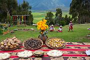 Quechua,food, Misminay village, Sacred Valley, Cusco Region, Urubamba Province, Machupicchu District, Peru