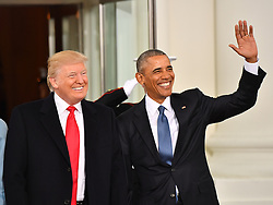 President Barak Obama (R) and President-elect Donald Trump smile at the White House before the inauguration on January 20, 2017 in Washington, D.C. Trump becomes the 45th President of the United States. Photo by Kevin Dietsch/UPI/POOL/ABACAPRESS.COM